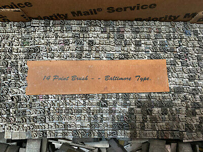 Brush 14 Pt - Metal Letterpress Type - 14 Point Brush Baltimore Type