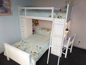 Bunk beds White - Manhatten Loft with desk Pakenham Cardinia Area Preview