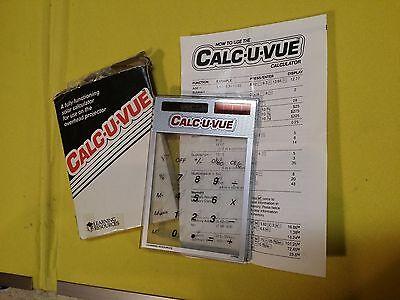 Overhead Projector Calc-u-vue Calculator Solar Classroom Big-digit Lcd Vintage