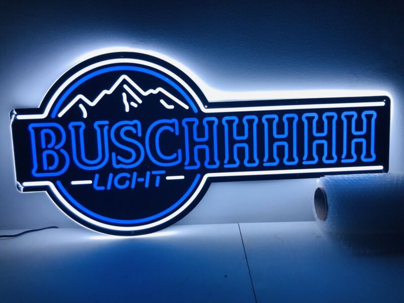 Busch Light Lighted LED Beer Sign. Buschhhhhhh, COOL!!!