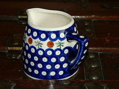 BOLESLAWIEC Hand Made Polish Pottery -Creamer G-3 Made in Poland, MINT
