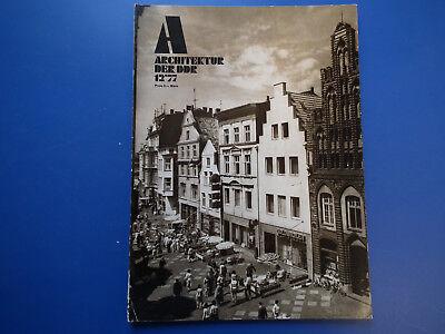 DDR Zeitschrift-Architektur der DDR Heft -12/1977-Leipzig Leutzsch-Berlin Köpeni