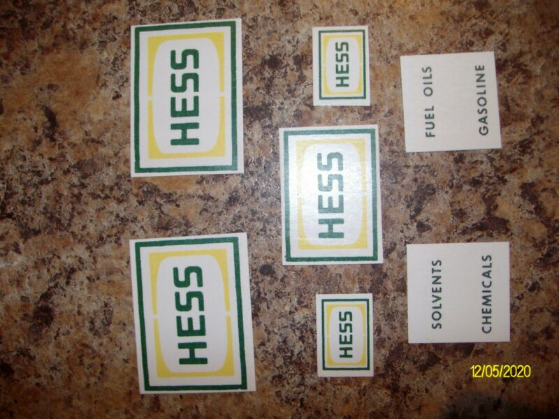 1964 Hess Tanker Truck Restoration Kit! New Reproduction Parts! Restore That 64!