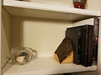 Handmade Oak Bookends- available in natural, golden, and complete live edge for sale  Kansas City