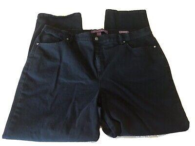 Women's Gloria Vanderbilt Amanda Straight Jeans Black Sz 20 Stretch