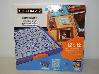FISKARS 12-6600 SCRAPBOSS 12X12 EMBOSSING SYSTEM