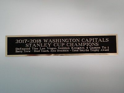 Washington Capitals 2017-18 Stanley Cup Nameplate For A Hockey Jersey Case 1.5X6