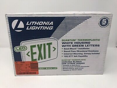 Lithonia Lighting Led Green Emergency Exit Sign