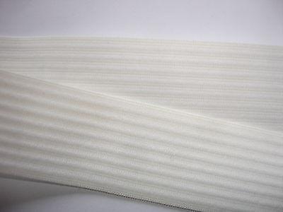10m Gummiband 0,55€/m Bündchenware weiß 2,7 cm breit  MN44