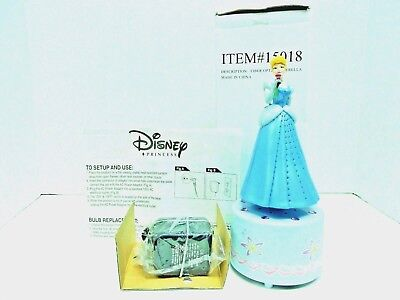 NEW DISNEY CINDERELLA FIBER OPTIC TABLE TOP NIGHT LIGHT/DECORATION W/ADAPTER