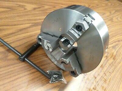 10 3-jaw Self-centering Lathe Chuck Topbottom Jaws 0.0015 Tir 1003f0- New