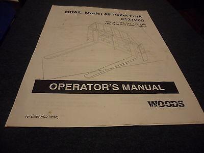 Drawer 5 Woods Operators Manual Pallet Fork 48 131265 110 115 175 195 215 340