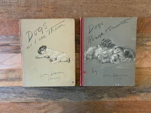 Vintage Books: Dogs As I See Them / Dogs Rough & Smooth, by LUCY DAWSON, 1937