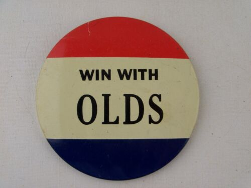 Win with Olds Oldsmobile Pin Button Pinback Dealer Promo