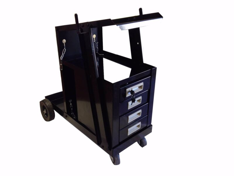 UNIVERSAL WELDING CART MIG FLUS 4 DRAWER SLIDINHG CABINET WELDER WELDER CART