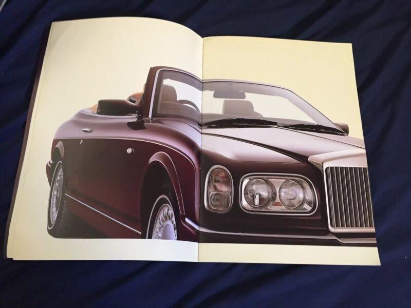 2000 Rolls Royce Corniche Convertible Prestige Color Brochure Catalog Prospekt