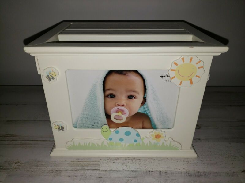 Hallmark Baby Wooden Photo Storage Box Girl Boy New Pictures Shower