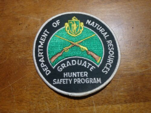 Massachusetts department natural resources graduate hunter safety patch  bx 2#23