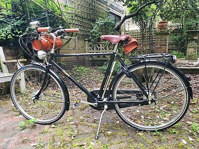 Pashley Roaster Sovereign Black Bike with leather accessories 53cm frame