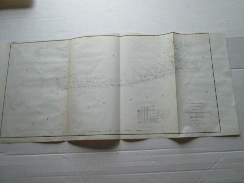 ONE (1) 1848-1856 COAST SURVEY TRIAGULATIONS S-I,NO.IX, TX GALVESTON-ST. JOSEPH