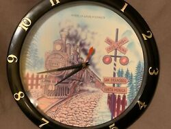 Locomotive Wall Clock with Hourly Train Sound Effects