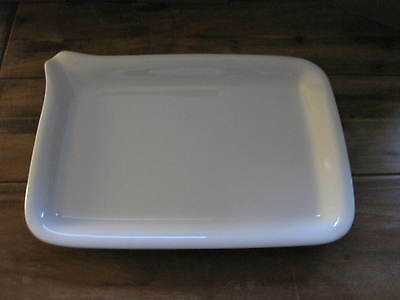 KAHLA Porzellan FIVE SENSES MAXI Menüplatte Platte 37x26 cm mit Schnaupe weiß