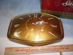 Vintage NOS atomic age  Mid Century Sunbeam Kitchen  Clock gold free shipping