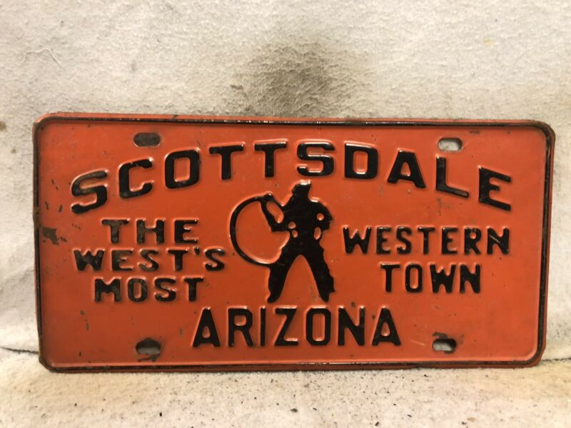 Vintage 1960 Scottadale, Arizona License Plate