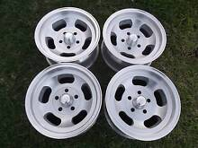 VALIANT W35 ALLOYS WITH NEW  215X65X14 SILVERSTONE TYRES. Edwardstown Marion Area Preview