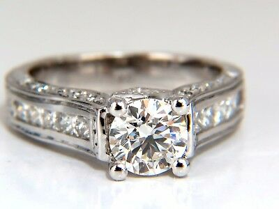 GIA Certied 2.47ct Round Diamond Ring I/VVs-1 Excellent 14kt Cathedral Ideal 3