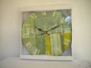 "Clock, ""BEACH"" on dial, wooden, 30x30cm, new in box Mudgeeraba Gold Coast South Preview"