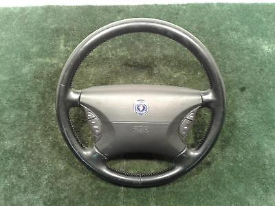 SAAB 9-3/9-5 Mk1 LEATHER Non Perforated STEERING WHEEL WITH AIRBAG 1997-2002