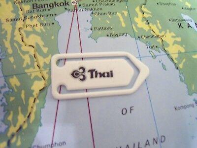TG ✈ THAI AIRWAYS ✈ AIRLINES ✈ 45 PCS UNUSED LOGO PAPER CLIPS ✈ RARE