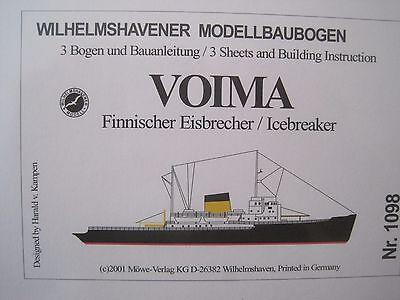Voima Eisbrecher Wilhelmshavener Modellbaubogen Bastelbogen Kartonmodell