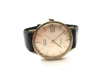 Vintage Chalet Automatic Watch 25 Jewels Incabloc Working Gold Plated Incabloc