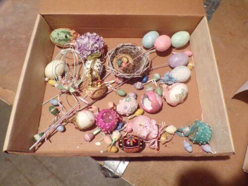 Lot of Easter Ornaments Both Modern & Vintage