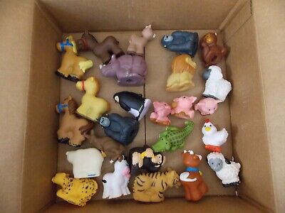 Fisher Price Little People Figures Animals 25 Lot Zoo Monkey Gorilla Tiger Sheep