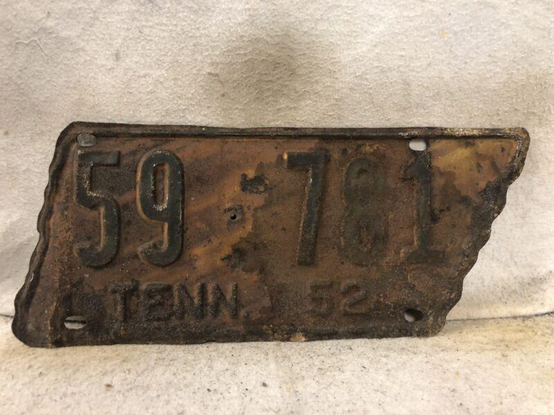 Vintage 1952 Tennessee License Plate