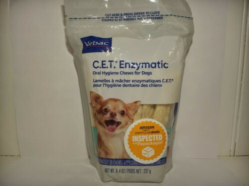 CET Enzymatic Chews For Dogs, X-SMALL Under 11 lbs - 30 Chews