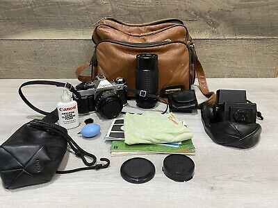 Canon AE-1 Program 35mm Camera with 50mm f/1.8 Lens Excellent Condition LOT