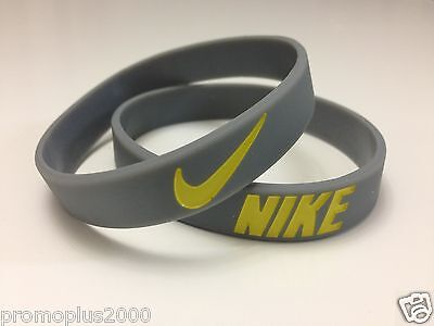Nike Sport Baller Band Silicone Rubber Bracelet Wristband grey/yell