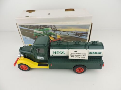 Vintage 1985 First Hess Truck Toy Bank, New In Box Nice!