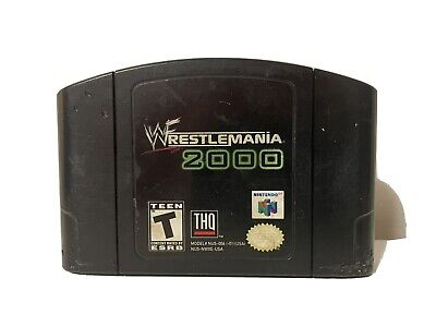 WWF WrestleMania 2000 (Nintendo 64 N64, 1999) Cartridge Only Tested and Works