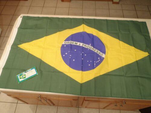 Brazil Flag Annin 3x5 Ordem E Progresso National Country Brass Grommets