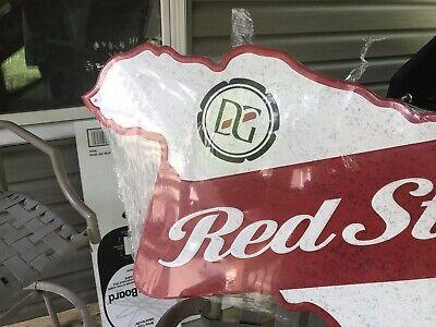 "Red Stripe Jamaica Large Beer Tin Sign Bar Man Cave Decor Jamaican 36""X 17"" New"