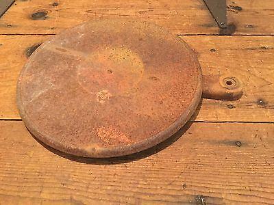 Antique Industrial Iron Shelf and Bracket Farm Cream Separator Repurpose crafts