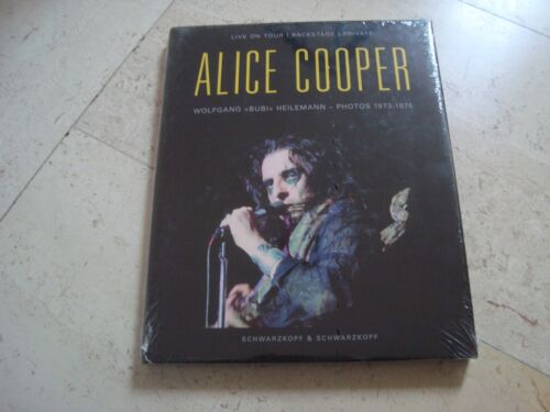 ALICE COOPER Live Tour Backstage Private 1973-1975 OOP *new* book Bubi Heilemann