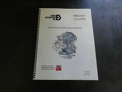 Ford Msg-425 2.5 Liter Industrial Engine Service Manual