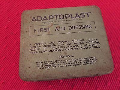 Vintage Adaptoplast First Aid Dressing Tin