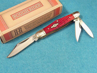 Rough Rider Rr282 Whittler Red Jigged Bone Pocket Knife 3 1 2  Closed New